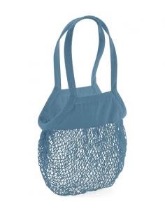 Bolsa Shopper Azul Bordada