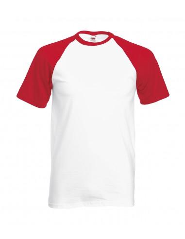 Camiseta Baseball Rojo/Blanco