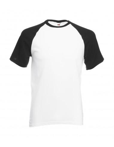 Camiseta Baseball Negro/Blanco