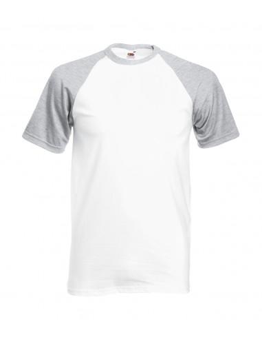 Camiseta Baseball Gris/Blanco